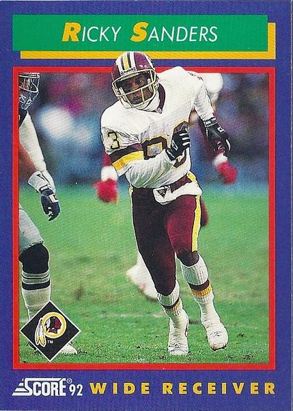 Ricky Sanders 1992 Score