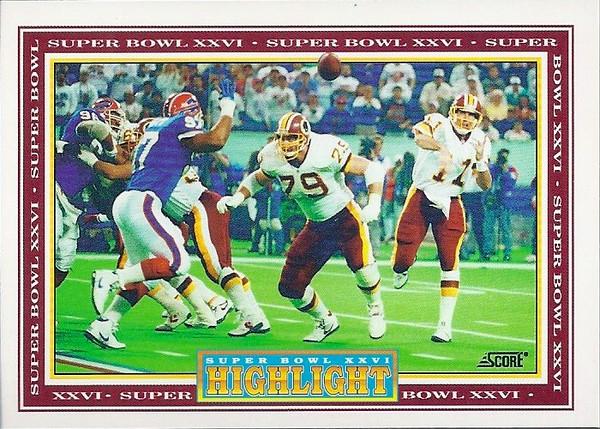Super Bowl XXVI 1992 Score