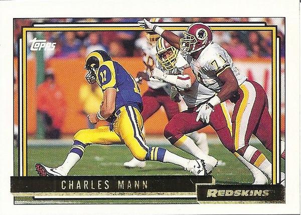 Charles Mann 1992 Topps Gold
