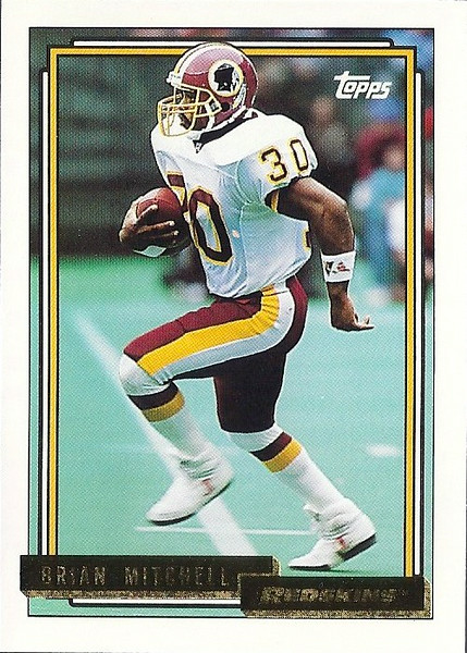 Brian Mitchell 1992 Topps Gold