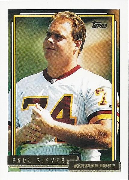 Paul Siever 1992 Topps Gold