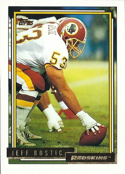 Jeff Bostic 1992 Topps Gold