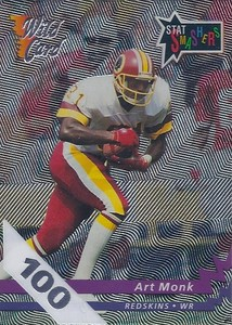 1992 Wild Card 100 Stripe Stat Smashers Art Monk