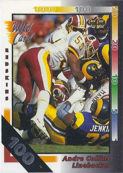 Andre Collins 1992 Wild Card 100 Stripe