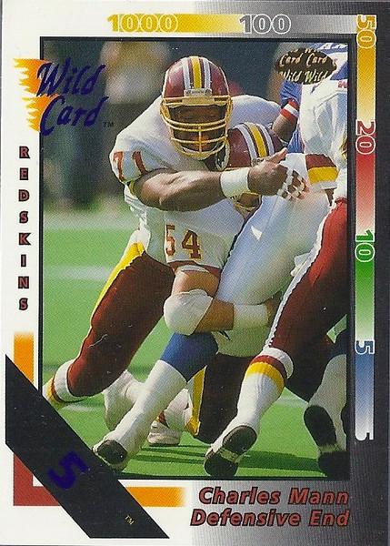 Charles Mann 1992 Wild Card 5 Stripe