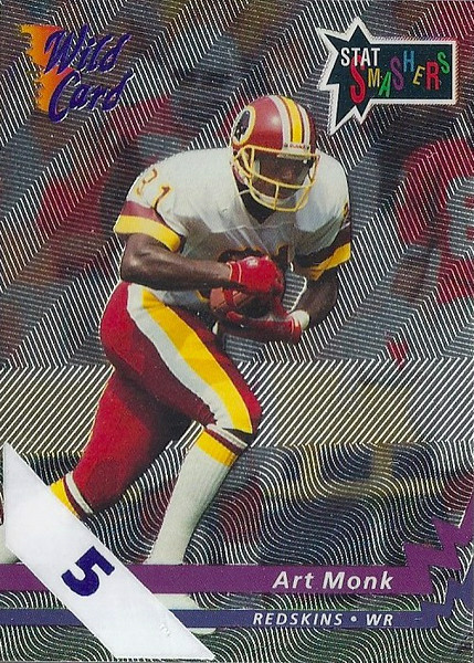 Art Monk 1992 Wild Card 5 Stripe