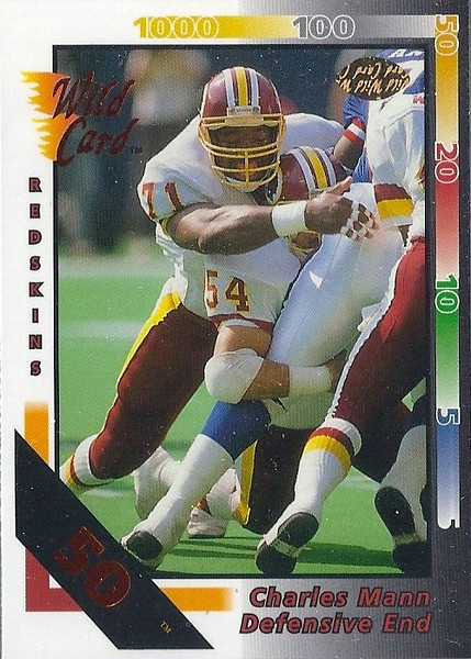 Charles Mann 1992 Wild Card 50 Stripe