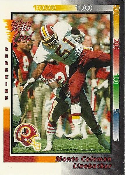 Monte Coleman 1992 Wild Card