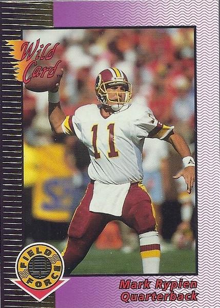 Mark Rypien 1992 Wild Card Field Force Gold