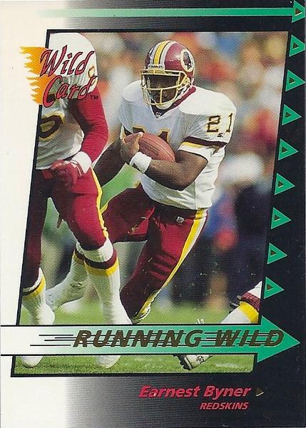 Earnest Byner 1992 Wild Card Running Wild Gold