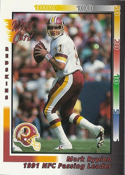 Mark Rypien Passing Leaders 1992 Wild Card