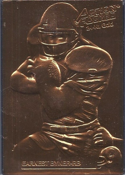 Earnest Byner 1992 Action Packed Mint Parallel
