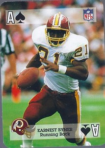 Earnest Byner 1992 Sports Deck Prototype Ace