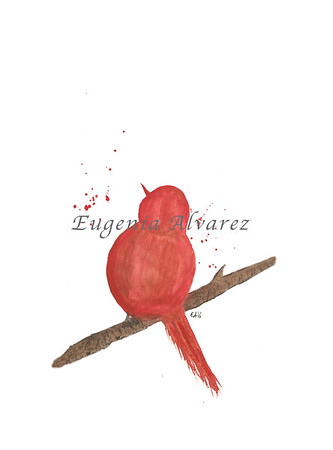 Red Birds Positive Watercolor Painting Art Print Fine Art Print from Watercolor Painting Bird Print Painting Art Mminimalist Wall Art Bird Watercolor Painting Art Print Fine Art Print from Watercolor Painting Bird Print Painting Art Minimalist Wall Art