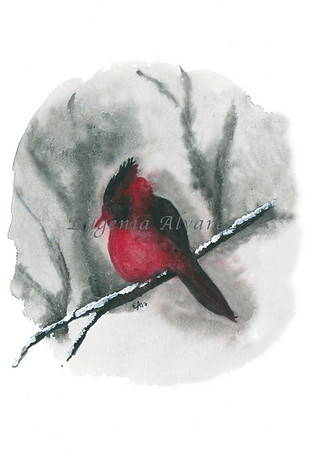 Red Robin Bird Watercolor Painting Art Print Fine Art Print from Watercolor Painting Bird Print Painting Art Minimalist Wall Art