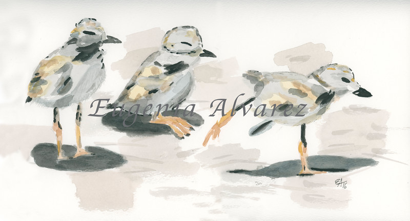 Three Little Birds Watercolor Painting Art Print Fine Art Print from Watercolor Painting Bird Print Painting Art Minimalist Wall Art
