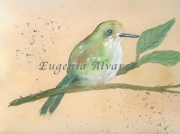 Green Bird Watercolor Painting Art Print Fine Art Print from Watercolor Painting Bird Print Painting Art Minimalist Wall Art