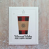 A2 Christmas card<br /> Warmest Wishes for a Happy Holiday on front, blank inside