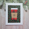 """A2 Christmas card<br /> """"Warmest wishes for a Happy Holiday"""" sentiment inside"""