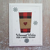 """A2 Christmas Card<br /> """"Warmest Wishes for a Happy Holiday"""" sentiment on the front, blank inside"""