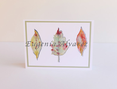 Leaves Cards, Fall Leaves Cards- Fall Card- Seasonal Fall Leaves Card Set - Fall Foliage Cards, Colorful Leaves, All Occasion Cards
