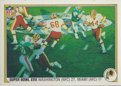 1983 Super Bowl XVII Fleer Team Action
