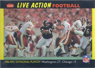 1987 NFC Divisional Playoff Fleer Team Action