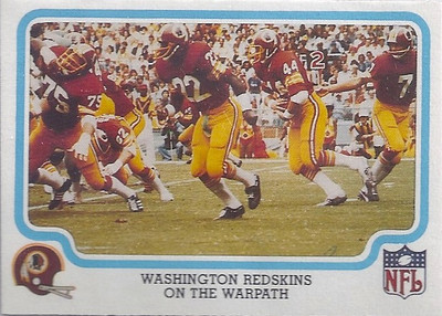 1979 Offense Redskins Fleer Team Action