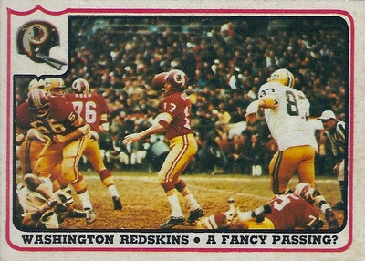 1976 Offense Redskins Fleer Team Action