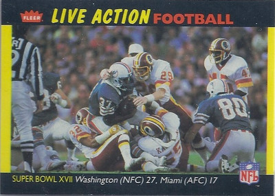 1987 Super Bowl XVII Fleer Team Action
