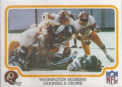 1979 Defense Redskins Fleer Team Action