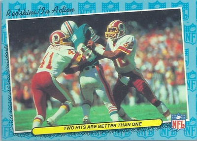 1986 In Action Redskins Fleer Team Action