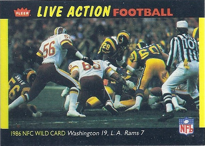 1987 NFC Wild Card Game Fleer Team Action