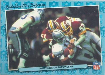1986 Defense Redskins Fleer Team Action