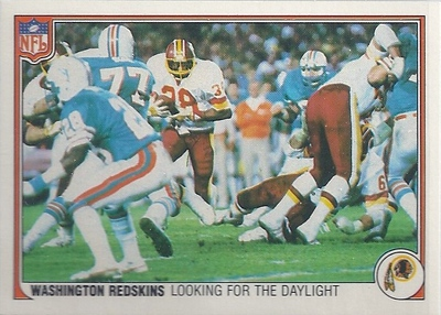 1983 Offense Redskins Fleer Team Action