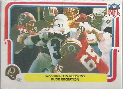 1980 Defense Redskins Fleer Team Action