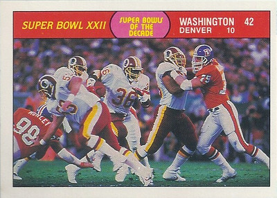 1988 Super Bowl XXII Fleer Team Action