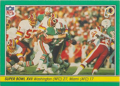 1984 Super Bowl XVII Fleer Team Action