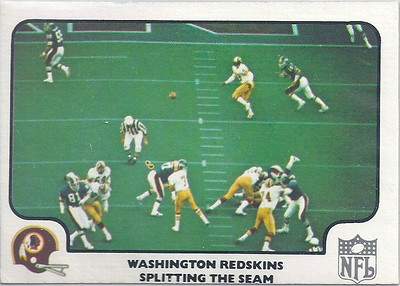 1977 Offense Redskins Fleer Team Action