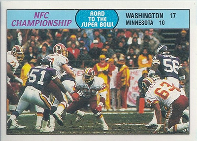 1988 NFC Championship Game Fleer Team Action