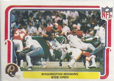 1980 Offense Redskins Fleer Team Action