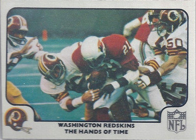 1977 Defense Redskins Fleer Team Action