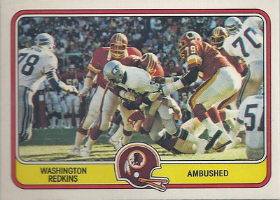 1981 Defense Redskins Fleer Team Action