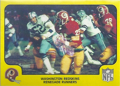 1978 Offense Redskins Fleer Team Action