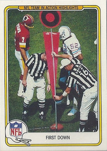 1982 First Down Fleer Team Action