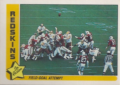 1985 FG Attempt Fleer Team Action