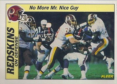 1988 Defense Redskins Fleer Team Action