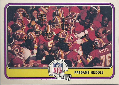 1981 PreGame Huddle Fleer Team Action