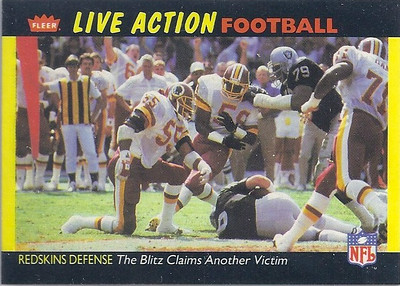 1987 Defense Redskins Fleer Team Action