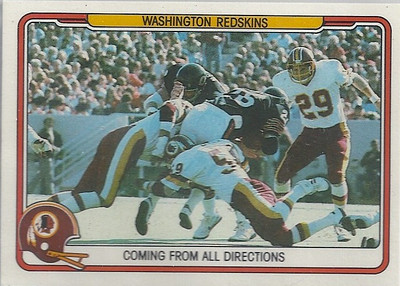 1982 Defense Redskins Fleer Team Action